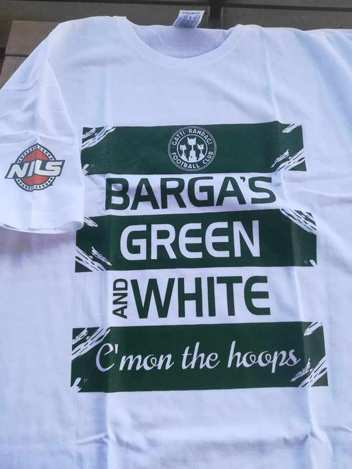 T-Shirt Barga Green and White - Paolo Nutini